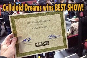 Celluloid Dreams wins Best Public Affairs show on KSJS!